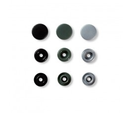 COLORSNAPS 12MM GRIS 30U...