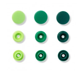COLORSNAPS 12MM VERDE 30U...